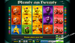 gioco slot machine Plenty on twenty Greentube
